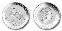 Kookaburra 1 oz Silber